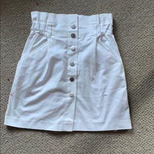 Zara paper bag skirt
